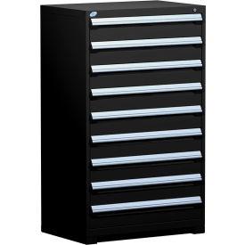 "Rousseau Metal Heavy Duty Modular Drawer Cabinet 9 Drawer Full Height 36""W - Black"
