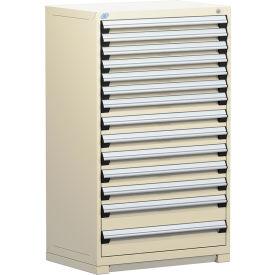 "Rousseau Metal Heavy Duty Modular Drawer Cabinet 14 Drawer Full Height 36""W - Beige"