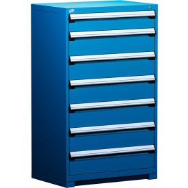 """Rousseau Metal Heavy Duty Modular Drawer Cabinet 7 Drawer Full Height 36""""W - Avalanche Blue"""