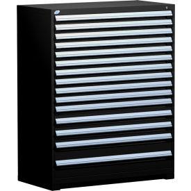 "Rousseau Metal Heavy Duty Modular Drawer Cabinet 15 Drawer Full Height 48""W - Black"