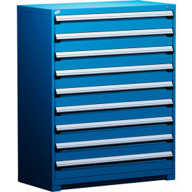 """Rousseau Metal Heavy Duty Modular Drawer Cabinet 9 Drawer Full Height 48""""W - Avalanche Blue"""