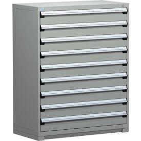 "Rousseau Metal Heavy Duty Modular Drawer Cabinet 9 Drawer Full Height 48""W - Light Gray"