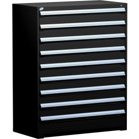 "Rousseau Metal Heavy Duty Modular Drawer Cabinet 9 Drawer Full Height 48""W - Black"
