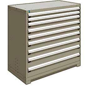 "Rousseau Metal Heavy Duty Modular Drawer Cabinet 9 Drawer Counter High 48""W - Light Gray"