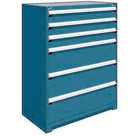 "Rousseau Metal Heavy Duty Modular Drawer Cabinet 6 Drawer Full Height 48""W - Everest Blue"