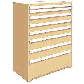 "Rousseau Metal Heavy Duty Modular Drawer Cabinet 8 Drawer Full Height 48""W - Beige"