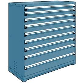 "Rousseau Metal Heavy Duty Modular Drawer Cabinet 9 Drawer Full Height 60""W - Everest Blue"