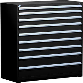 "Rousseau Metal Heavy Duty Modular Drawer Cabinet 9 Drawer Full Height 60""W - Black"