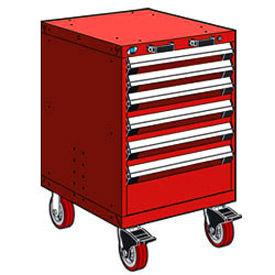 Rousseau Metal 6 Drawer Heavy-Duty Mobile Modular Drawer Cabinet - 24