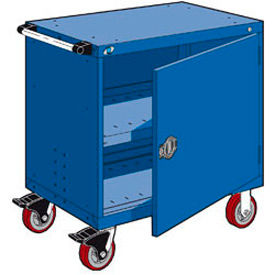 "Rousseau Metal Heavy-Duty Mobile Modular Drawer Cabinet - 36""Wx18""Dx37-1/2""H Avalanche Blue"