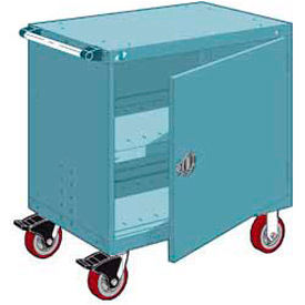 """Rousseau Metal Heavy-Duty Mobile Modular Drawer Cabinet - 36""""Wx24""""Dx37-1/2""""H Everest Blue"""