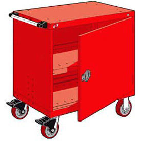"""Rousseau Metal Heavy-Duty Mobile Modular Drawer Cabinet - 36""""Wx24""""Dx37-1/2""""H Red"""