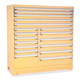 "Rousseau Metal 18 Drawer Full Height 60""W Multi-Drawer Cabinet - Beige"