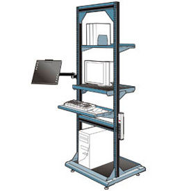"""Computer Multi-purpose Stand - 32""""Wx27""""Dx85""""H Everest Blue"""