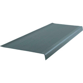 """Vinyl Light Duty Ribbed Stair Tread Square Nose 12.41"""" x 42"""" Steel Blue"""