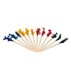 Royal RPPR811W, Wooden Frill Toothpicks, Assorted, Plain, 10,000/Carton