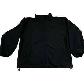 Petra Roc Fleece Work Jacket W/2 Zipped Slash Pockets, Elastic Cuffs, Black, Size 2XL