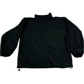 Petra Roc Fleece Work Jacket W/2 Zipped Slash Pockets, Elastic Cuffs, Black, Size 4XL