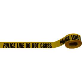 """Police Line Do Not Cross"" Barricade Tape, Polyethylene, Yellow Tape/Black Print, 3"" x 1000' by"