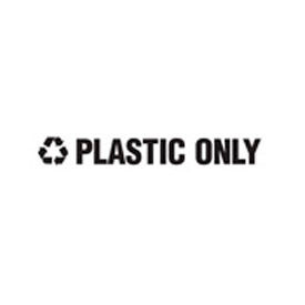 "Recycling Decals ""Plastic Only"" - Black 1""H X 8""W Pkg Qty 1"