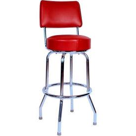 """Richardson Seating Swivel Barstool with Backrest - 30""""H - Wine"""