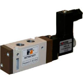 ROSS 5/2 Single Solenoid Controlled Directional Control Valve, 24VDC, 9576K3001W