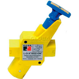 """ROSS® Manual Pneumatic Lockout Valve With Soft Start Y1523B5112, 3/4"""" NPT"""
