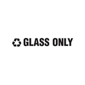 """Recycling Decals """"Glass Only"""" - White 1""""H X 8""""W Pkg Qty 1"""