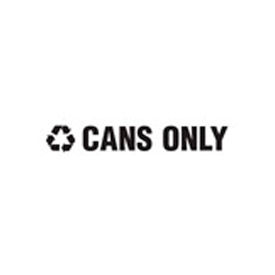 "Recycling Decals ""Cans Only"" - White 1""H X 8""W Pkg Qty 1"