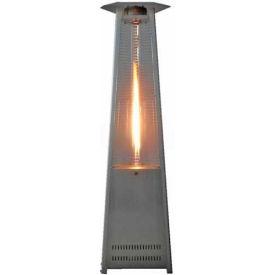 Hiland Patio Heater HLDS01-CGTSS Propane 41000 BTU Quartz Glass Tube Stainless Steel