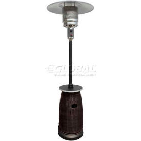Tall Patio Heater With Table - Wicker Propane Gas