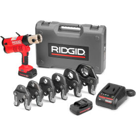 "Ridgid 43358 RP 340 Battery Press Tool Kit w/Propress Jaws, 1/2""-2"""