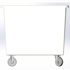 6 Bushel capacity-Mold in caster bracket only -White Color