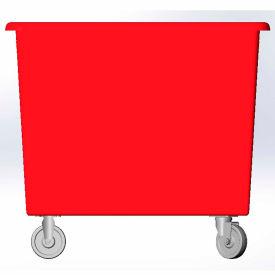 6 Bushel capacity-Mold in caster bracket only -Red Color