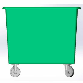 6 Bushel capacity-Mold in caster bracket only -Green Color