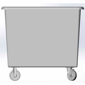 6 Bushel capacity-Mold in caster bracket only -Gray Color