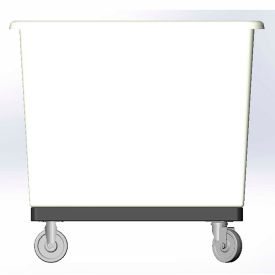 8 Bushel capacity-Mold in caster bracket and plastic reinforcement base- White Color