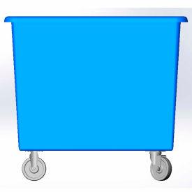 10 Bushel capacity-Mold in caster bracket only -Blue Color