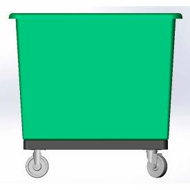 10 Bushel capacity-Mold in caster bracket and plastic reinforcement base- Green Color