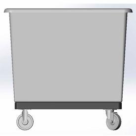 10 Bushel capacity-Mold in caster bracket and plastic reinforcement base- Gray Color