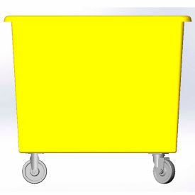 12 Bushel capacity-Mold in caster bracket only -Yellow Color