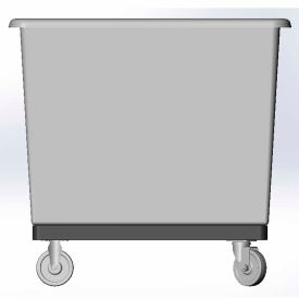12 Bushel capacity-Mold in caster bracket and plastic reinforcement base- Gray Color