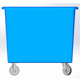14 Bushel capacity-Mold in caster bracket only -Blue Color