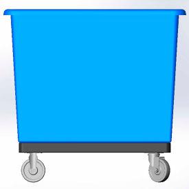 14 Bushel capacity-Mold in caster bracket and plastic reinforcement base- Blue Color