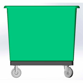 14 Bushel capacity-Mold in caster bracket and plastic reinforcement base- Green Color