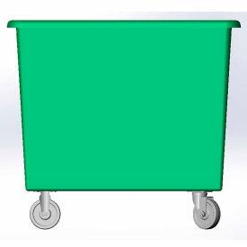 18 Bushel capacity-Mold in caster bracket and plastic reinforcement base- Green Color