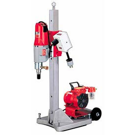 Milwaukee 4120-22 Diamond Coring Rig, Large Base Stand, Vac-U-Rig Kit, Meter Box & Motor