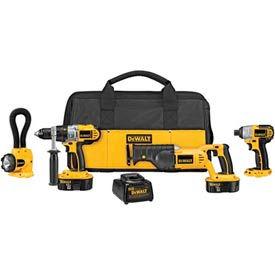 DeWALT® DCK455X XRP™ 18V Cordless 4-Tool Combo Kit, w/ Reciprocating Saw