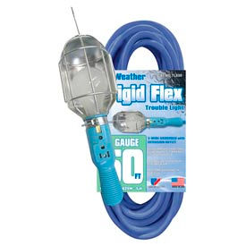U.S. Wire TL850 50 Ft. Frigid-Flex Trouble Light W/Outlet & Metal Bulb Cage, 14/3 Ga.