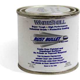 Rust Bullet WhiteShell Rust Inhibitive Coating 1/4 Pint Can 24/Case - WSQP-C24